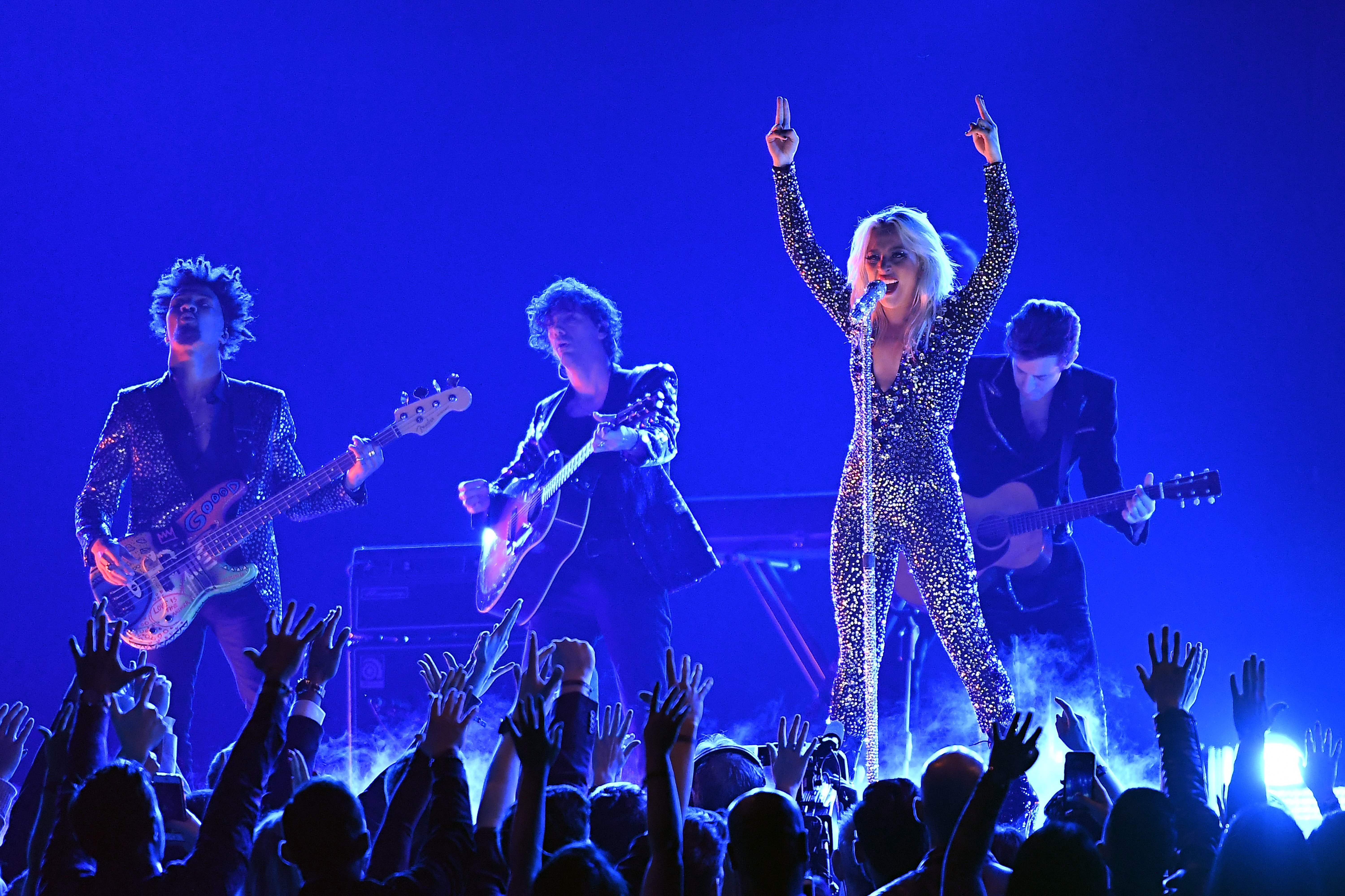 Lady Gaga performing at the 61st Annual GRAMMY Awards at Staples Center | Photo: Getty Images