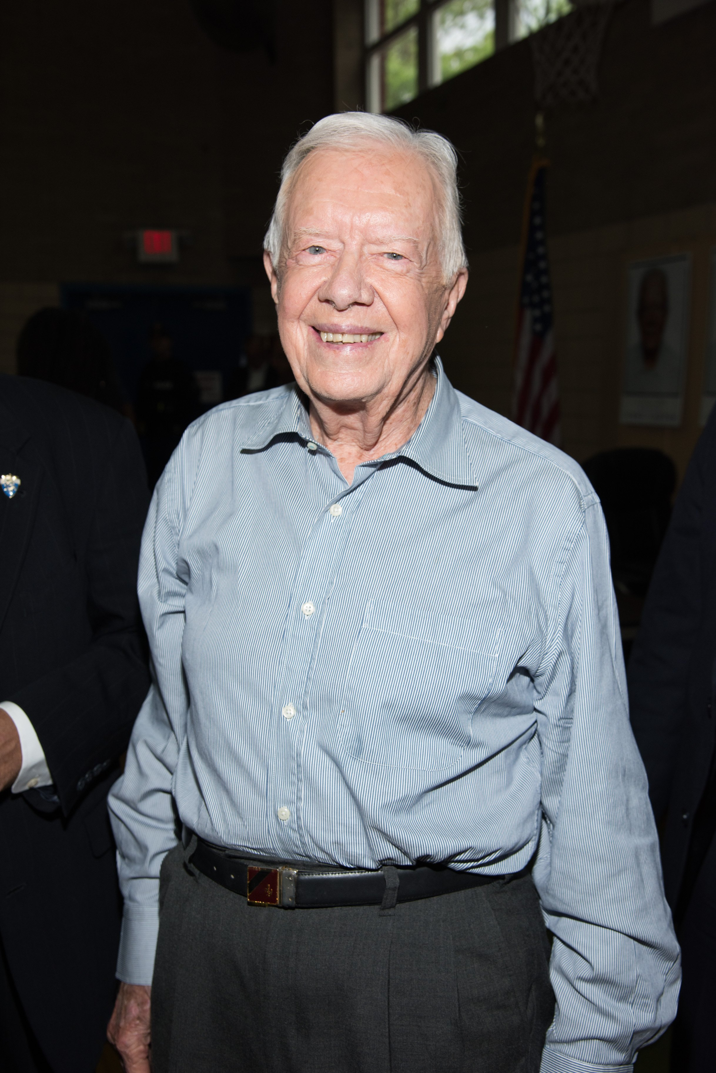 "Jimmy Carter signs copies of ""A Full Life Reflections At Ninety"" at Bookends Bookstore on July 8, 2015, in Ridgewood, New Jersey. 