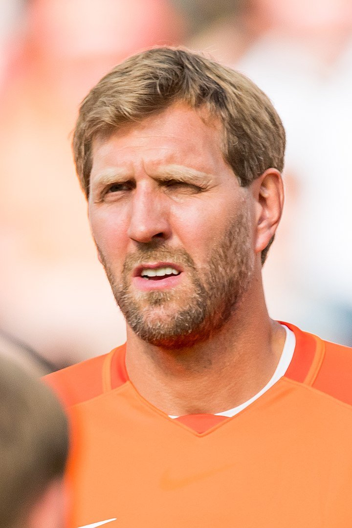 Dirk Nowitzki during Champions for Charity at BayArena, Leverkusen, Nordrhein-Westfalen, Germany on July 21, 2019 | Photo: Wikimedia Commons Images