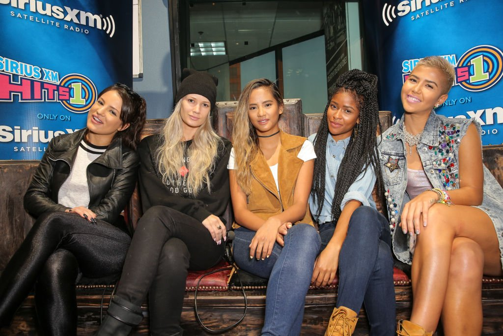 G.R.L. attend SiriusXM Hits 1's The Morning Mash Up Broadcast at SiriusXM Studios on August 26, 2014.   Photo: Getty Images