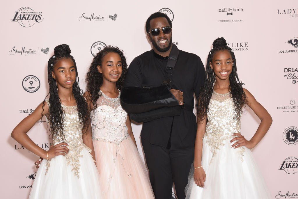 Sean Combs and his daughters D'Lila Star, Chance, and Jessie James at The LadyLike Foundation Women Of Excellence Luncheon at The Beverly Hilton Hotel on May 11, 2019 in California. | Photo: Getty Images