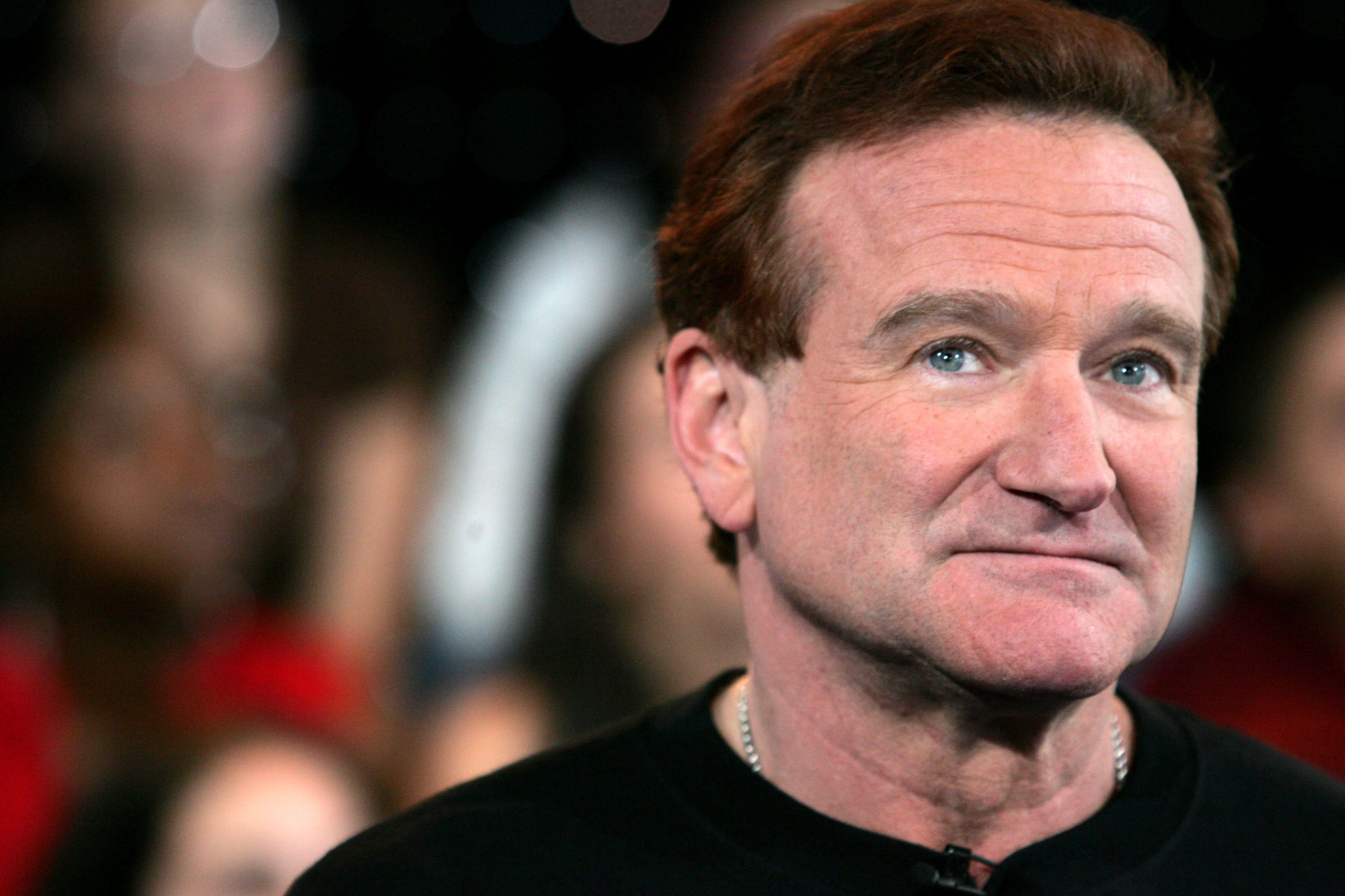 Robin Williams stand am 27. April 2006 bei MTVs Total Request Live in den MTV Times Square Studios in New York City auf der Bühne | Quelle: Getty Images