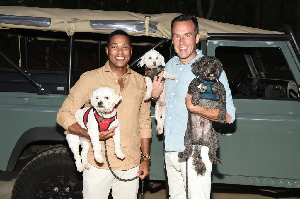 """Don Lemon and Tim Malone attend the Hamptons premiere of """"POWER BOOK II: GHOST"""" on September 05, 2020 in Water Mill, New York 