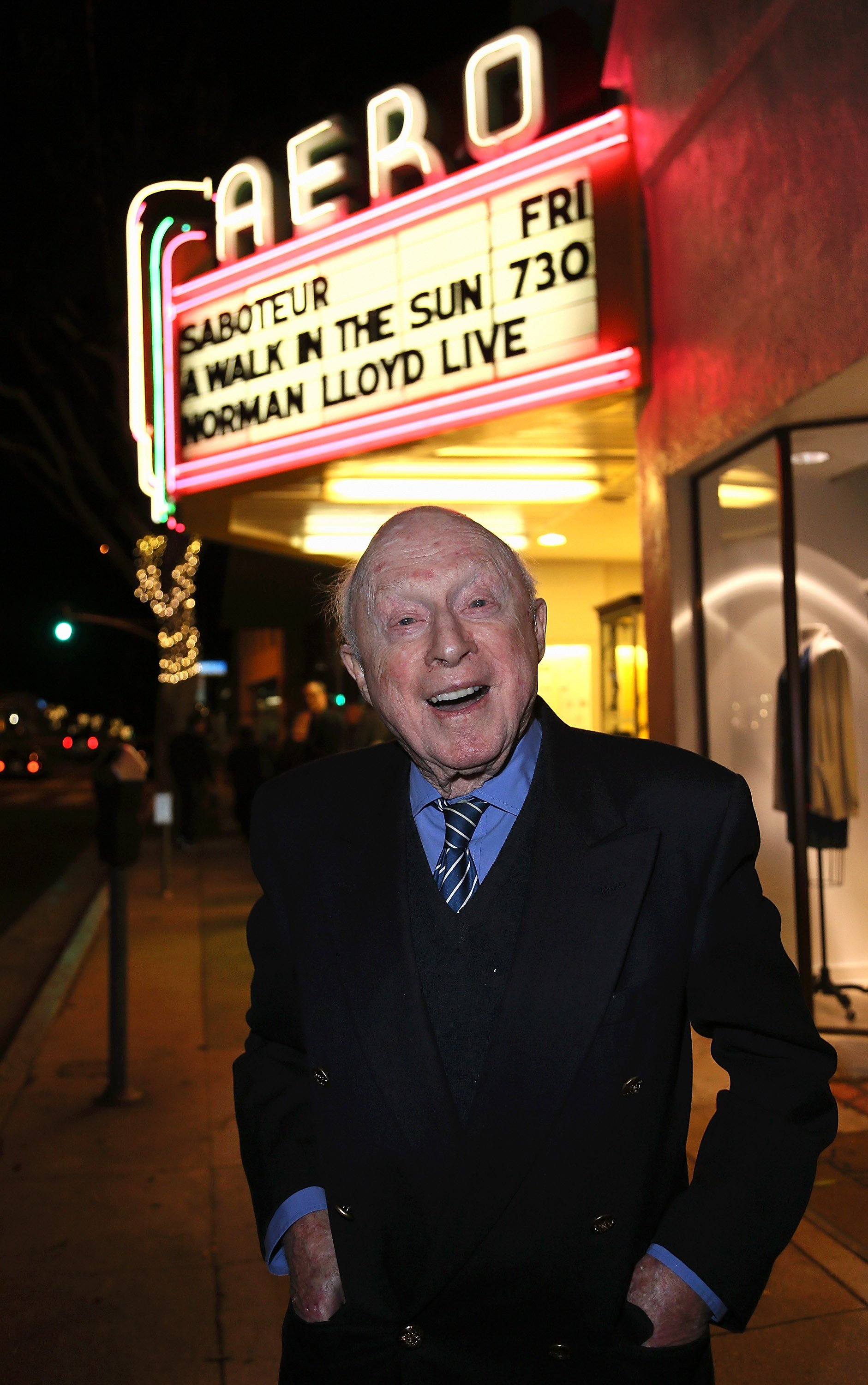 """Norman Lloyd attends the American Cinematheque film series """"100 Years of Norman Lloyd"""" Q&A at the Aero Theatre on November 21, 2014 in Santa Monica, California   Photo: Getty Images"""