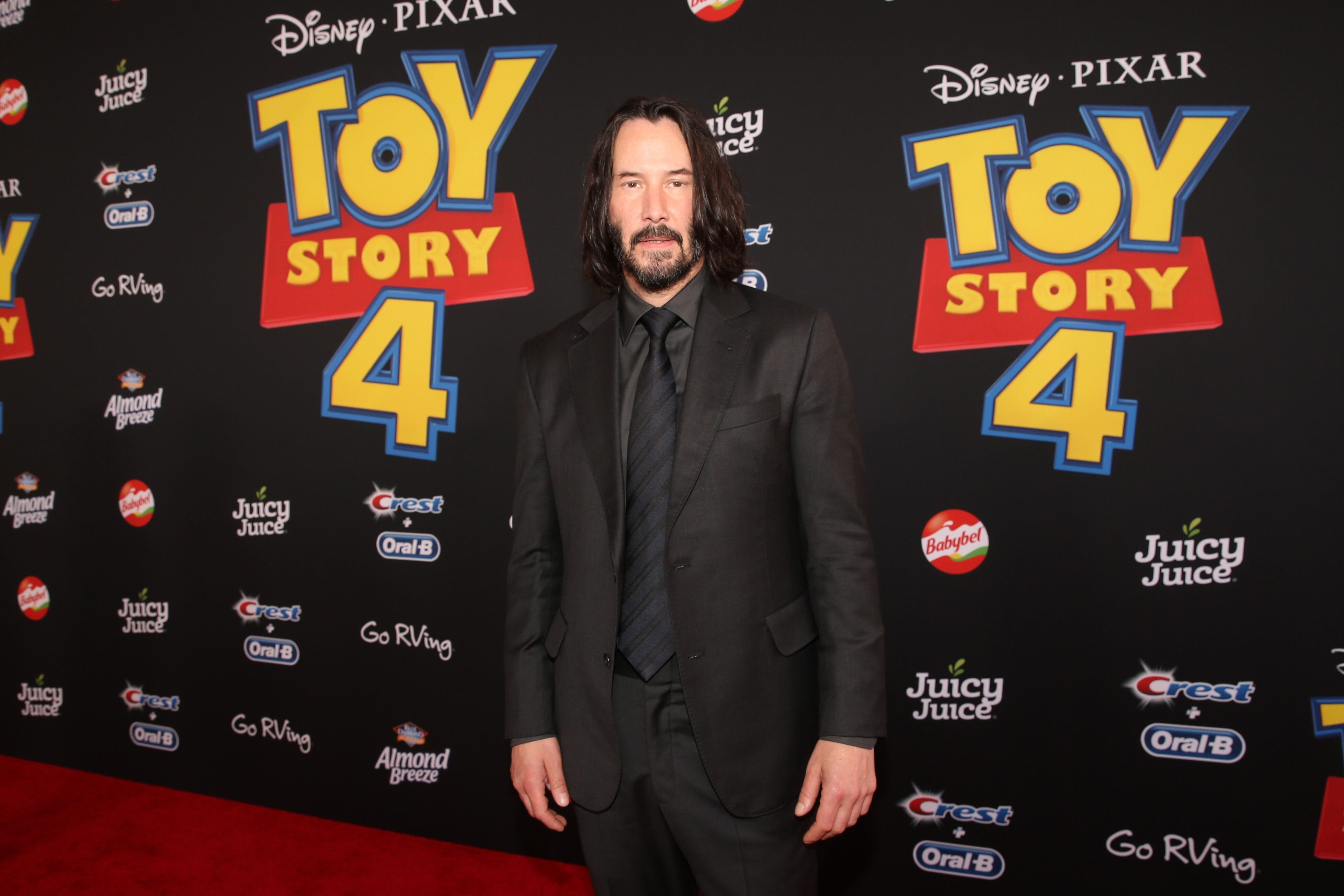 "Keanu Reeves attends the world premiere of Disney and Pixar's ""Toy Story 4."" 