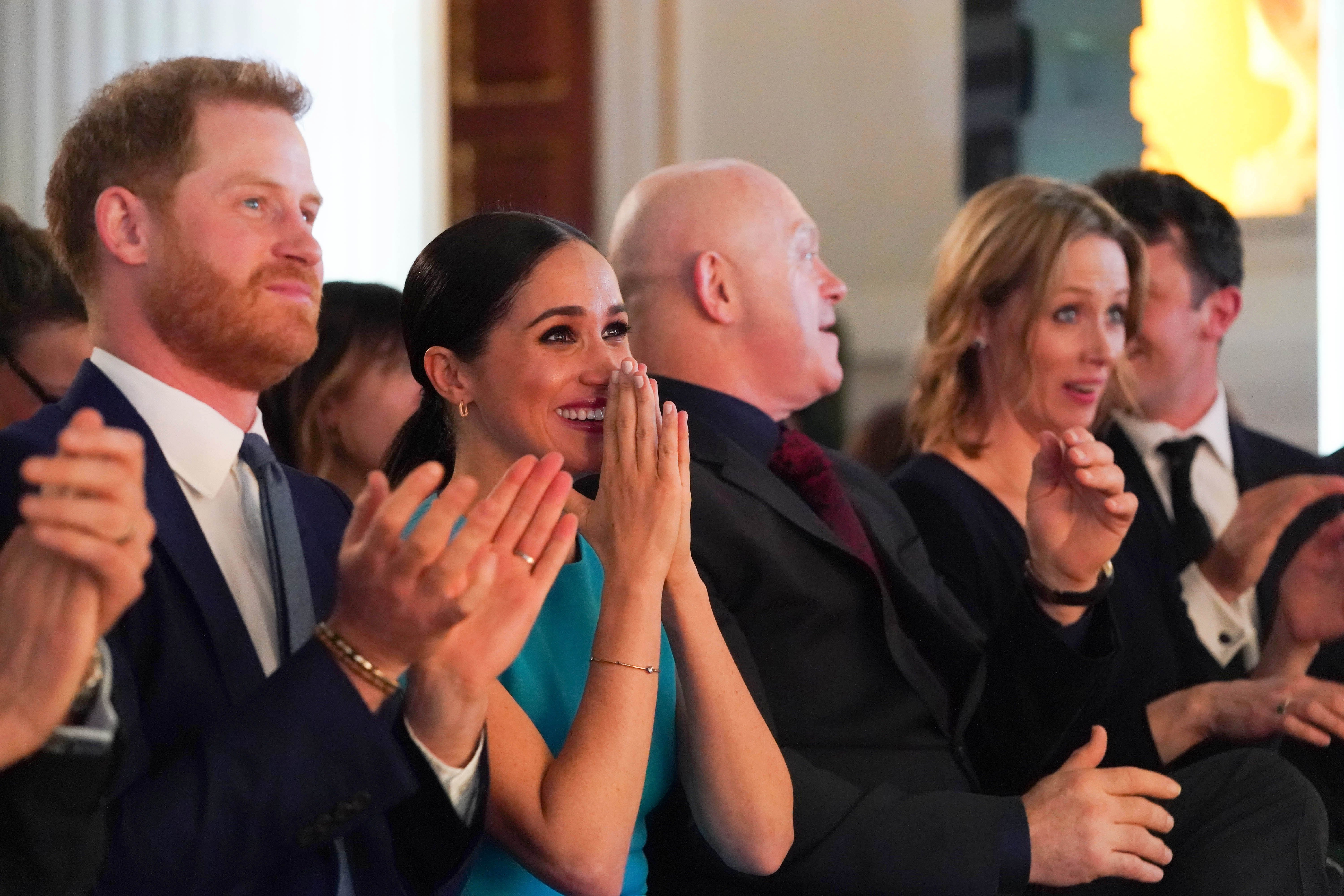 Prince Harry and Meghan Markle attend the annual Endeavour Fund Awards at Mansion House on March 5, 2020 in London, England   Photo: Getty Images