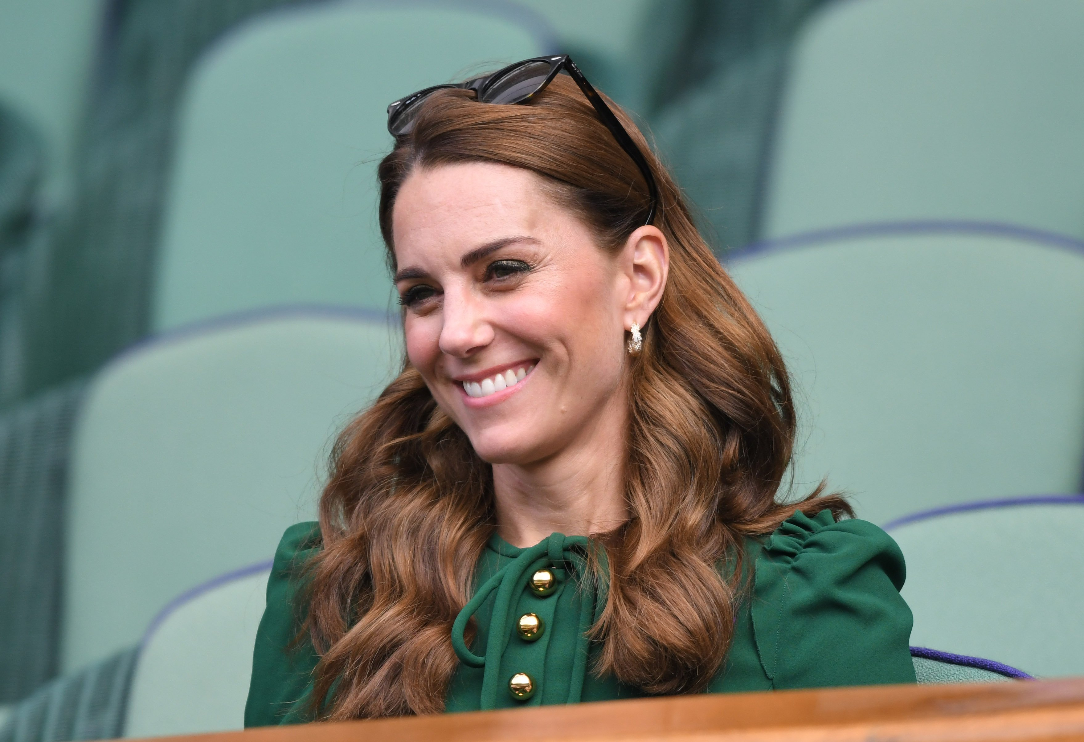 Duchess Kate at Wimbledon on July 13, 2019   Photo: Getty Images