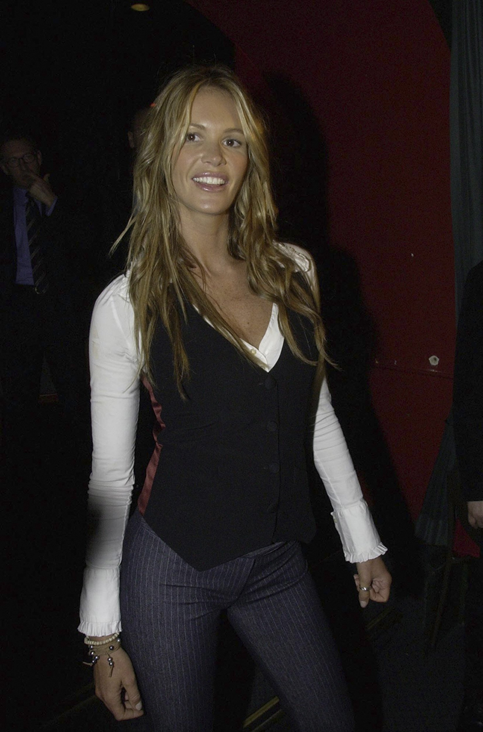 Elle Macpherson at a gentleman's club in Sydney after the showing of her lingerie fashion show, Elle Macpherson Intimates. | Source: Getty Images.