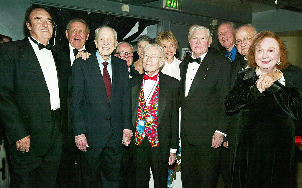"""Betty Lynnn (on the far right) and the cast of """"The Andy Griffith Show"""" backstage at the 2nd Annual TV Land Awards on March 7, 2004   Photo: GettyImages"""
