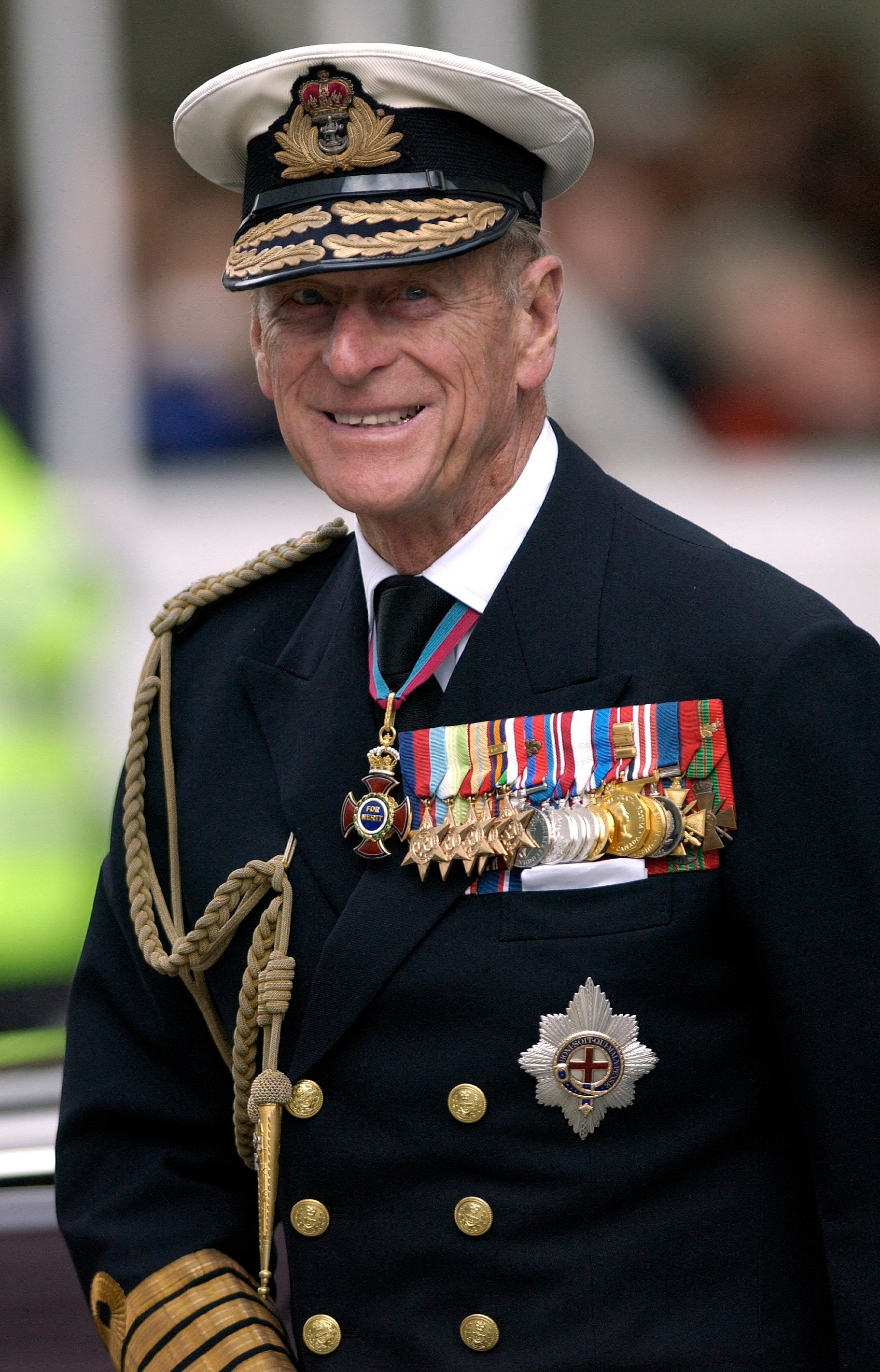 Prince Philip photographed in his military uniform on October 10, 2003.   Photo: Getty Images