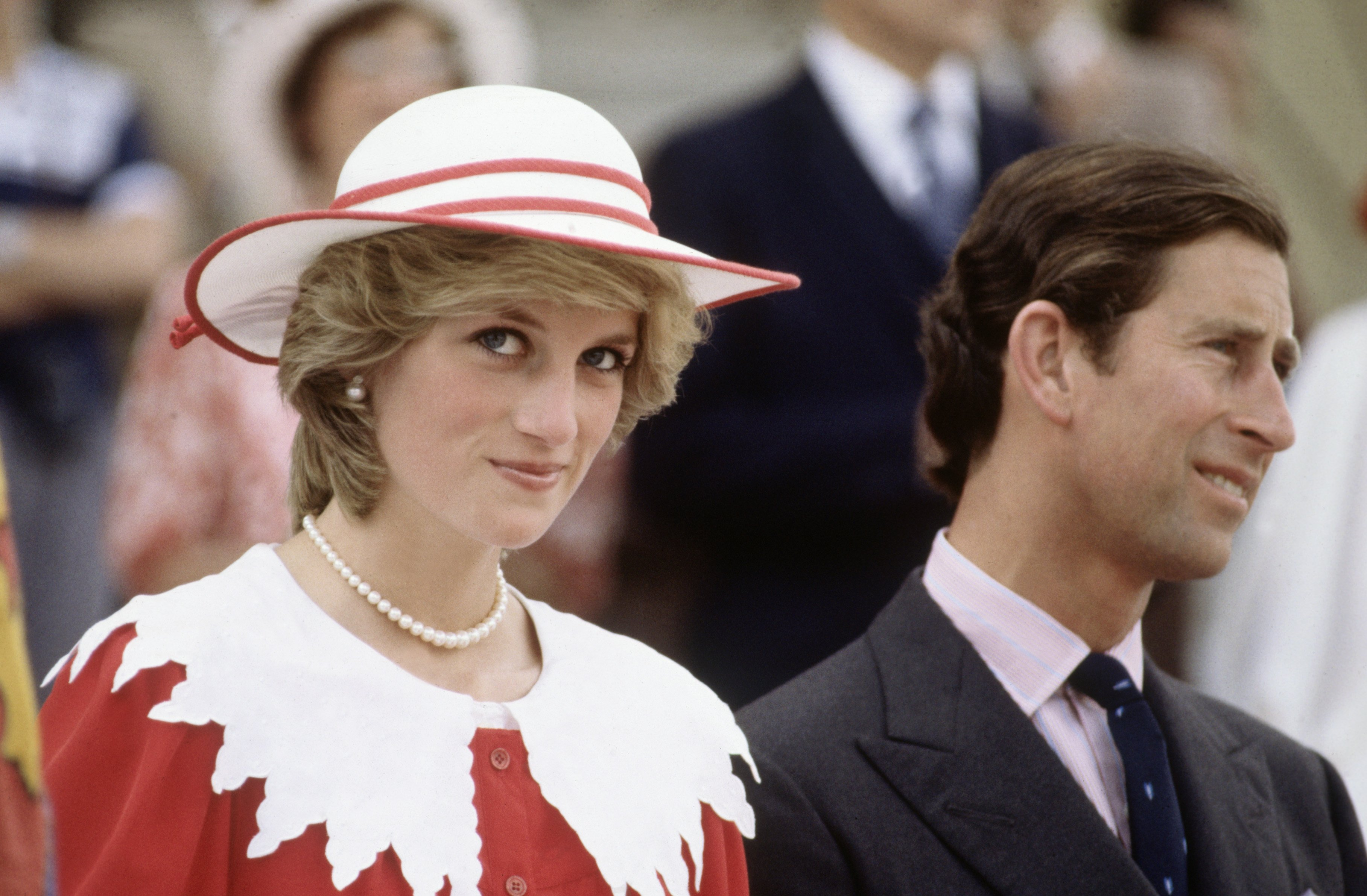 Diana Princess of Wales and Prince Charles during the Royal Tour of Canada on June 29, 1983. | Photo: GettyImages
