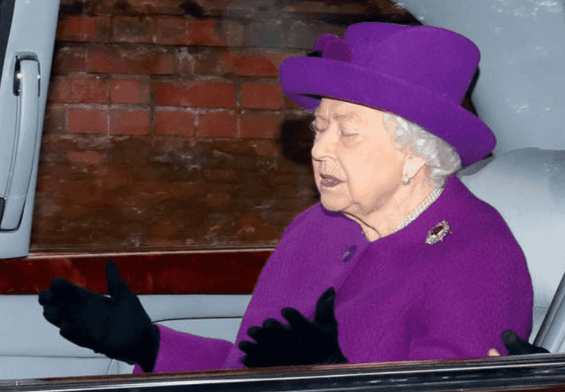 Queen Elizabeth leaves the annual Sunday service at the Church of St Mary Magdalene on her Sandringham estate, on January 5, 2020, in King's Lynn, England | Source: Max Mumby/Indigo/Getty Images