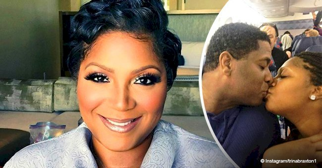 Trina Braxton kisses her new man in a viral photo after divorcing husband of 15 years