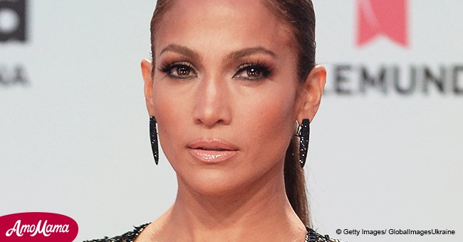 Jennifer Lopez shares provocative pic showing off underwear in see through top & black mini skirt