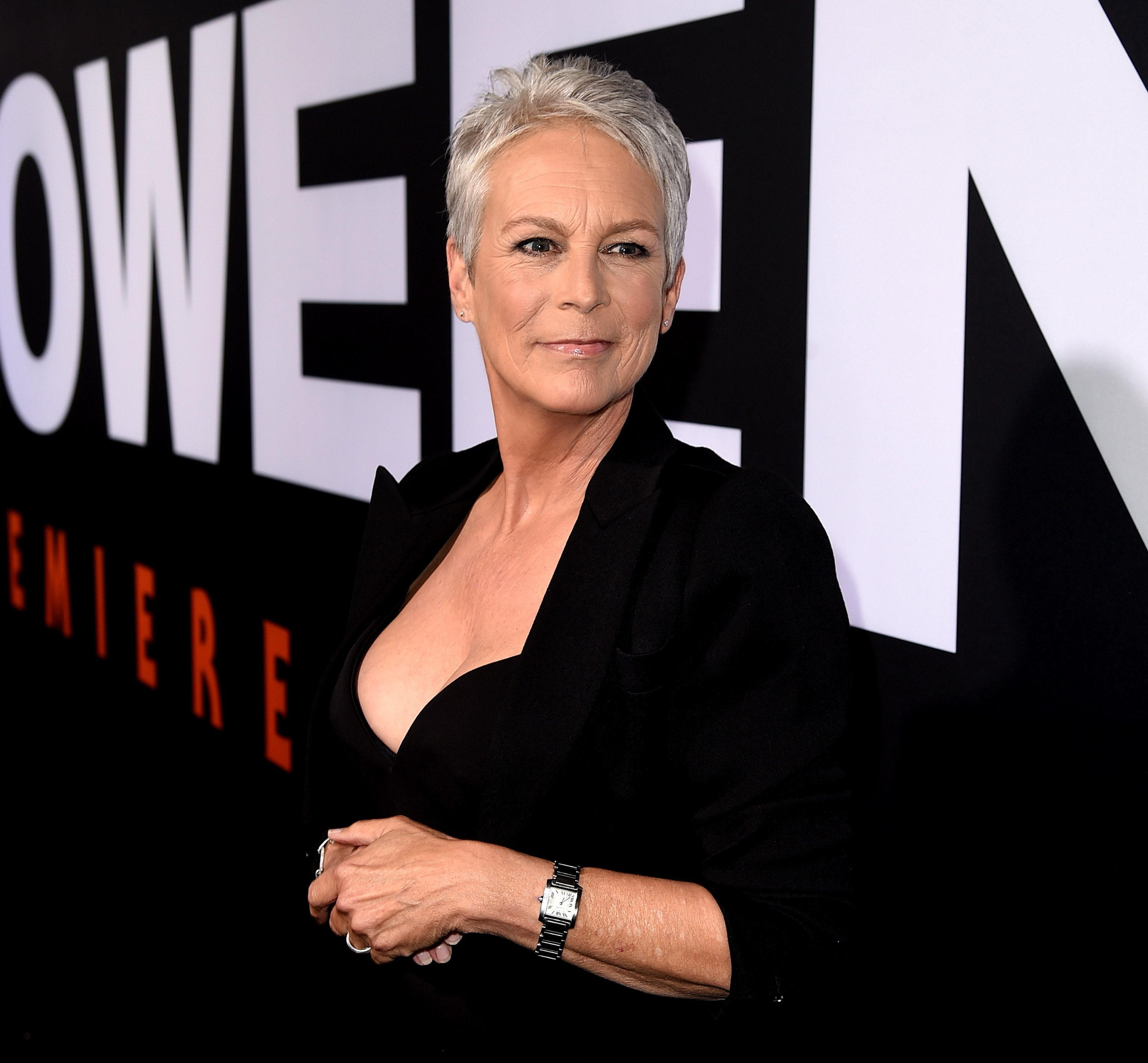 """Jamie Lee Curtis attends the premiere of """"Halloween"""" in Los Angeles, California on October 17, 2018 