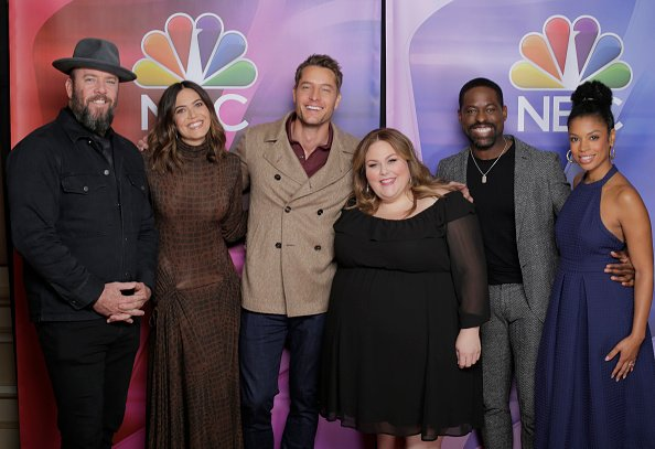 Chris Sullivan, Mandy Moore, Justin Hartley, Chrissy Metz, Sterling K. Brown, Susan Kelechi Watson during the NBC Universal Press Tour on January 11, 2020. | Photo: Getty Images