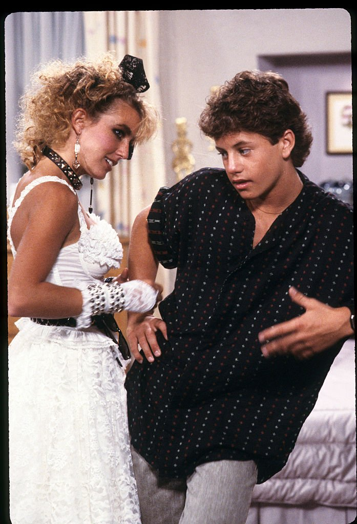 Dana Plato and Kirk Cameron on set   Photo: Getty Images