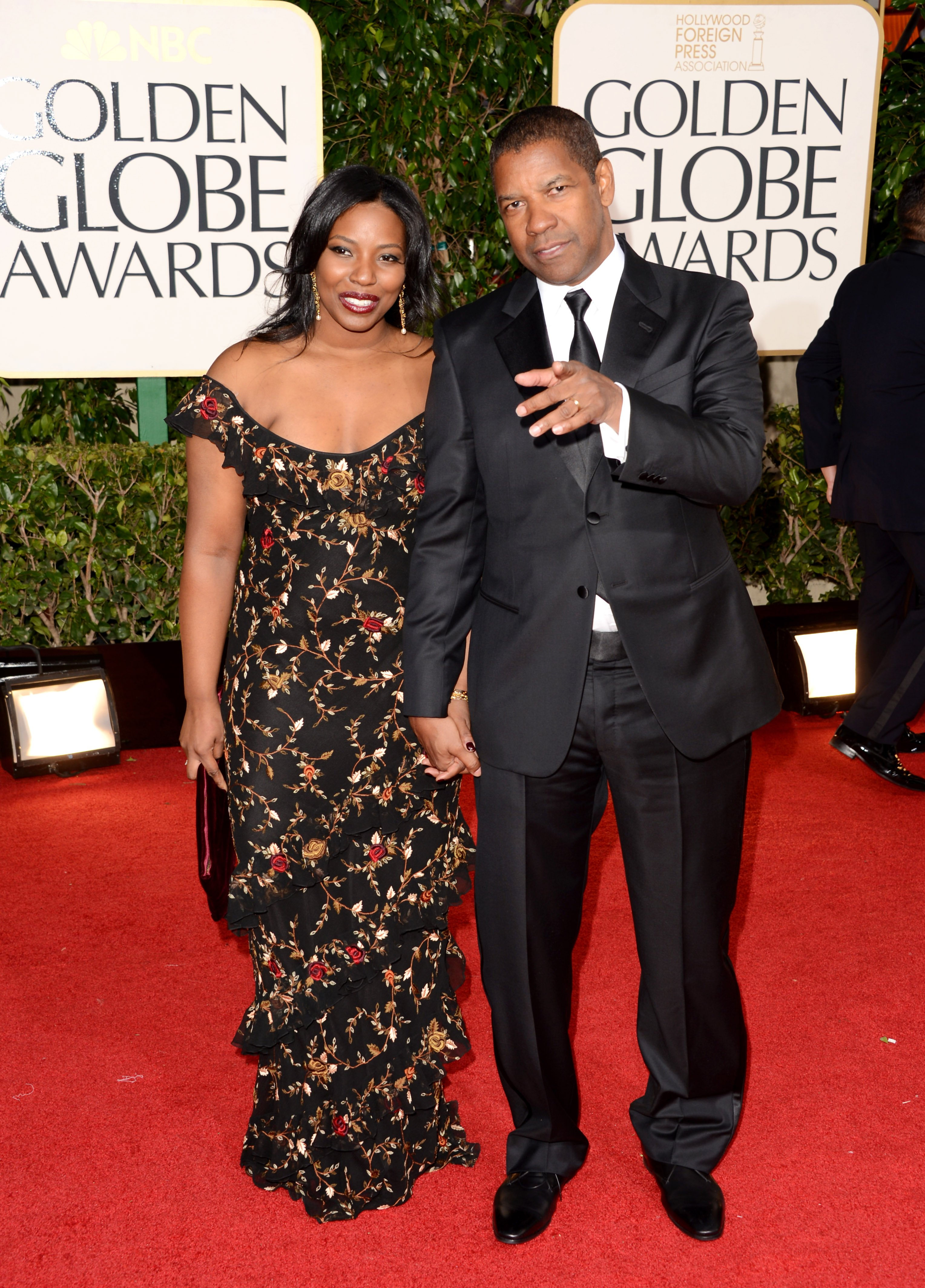 Denzel Washington and Pauletta Washington at the 2013 Golden Globe Awards in Beverly Hills, California. | Photo: Getty Images