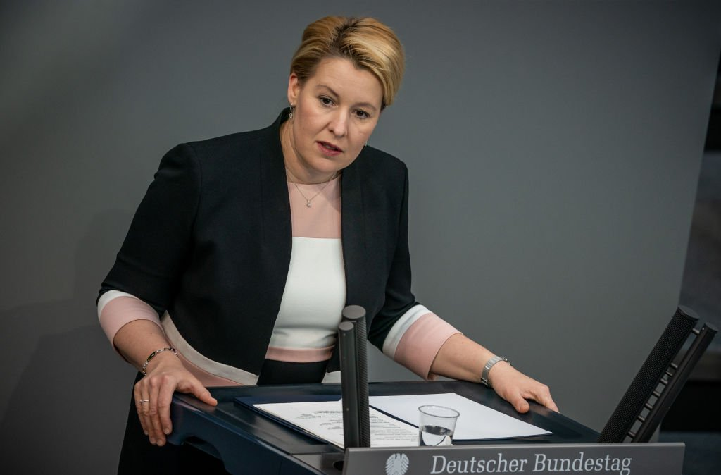 Franziska Giffey in the German Bundestag, 2020 |  Source: Getty Images