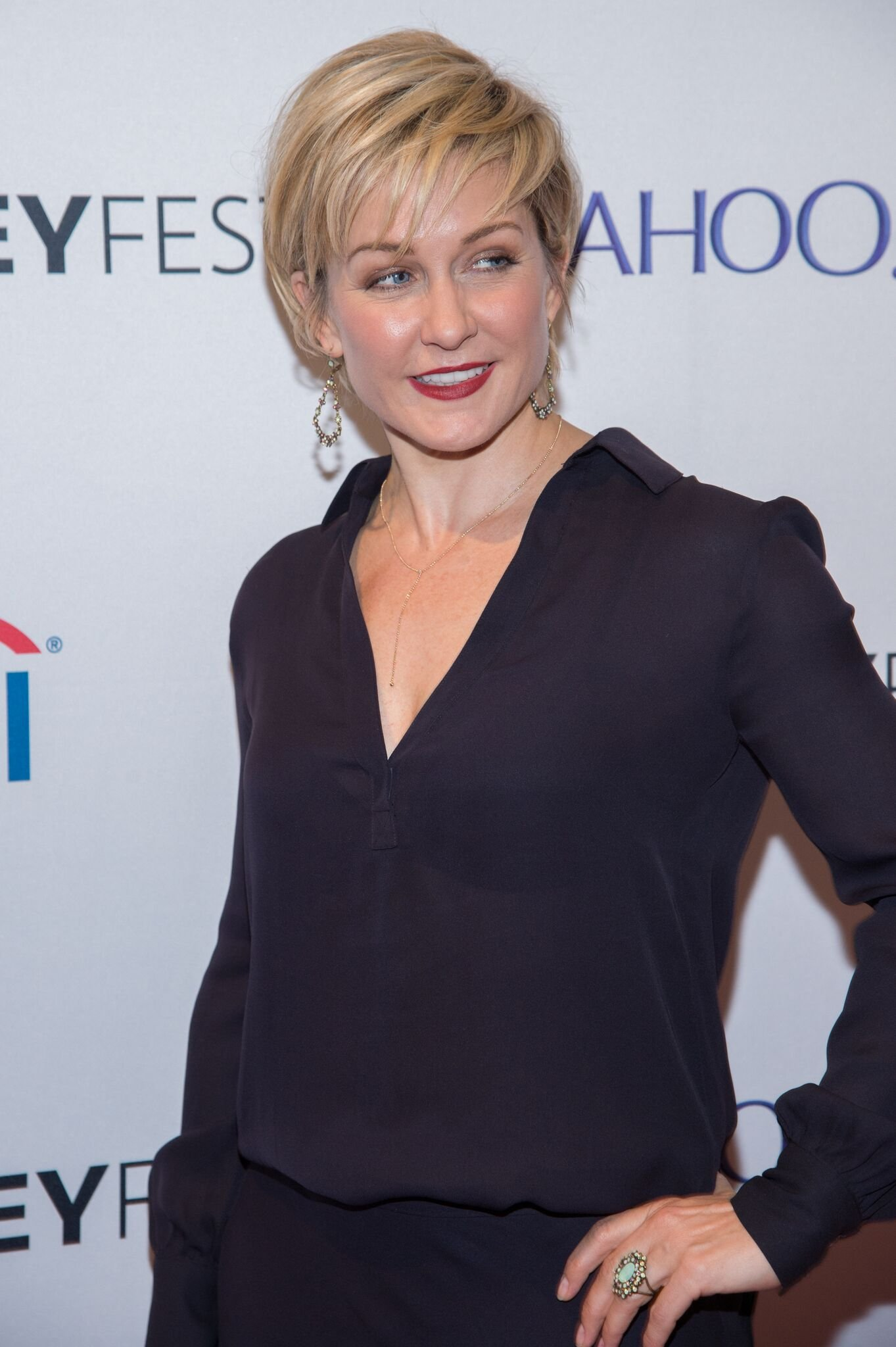 "Actress Amy Carlson attends the 2nd Annual Paleyfest of ""Blue Bloods"" at the Paley Center For Media 