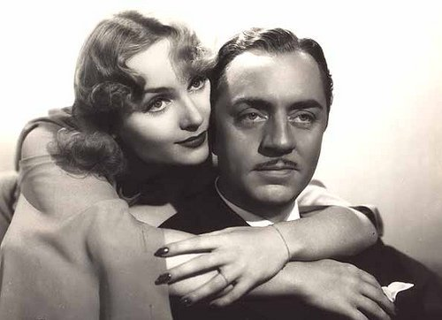 Carole Lombard and her first husband William Powell. I Image: Wikimedia Commons.