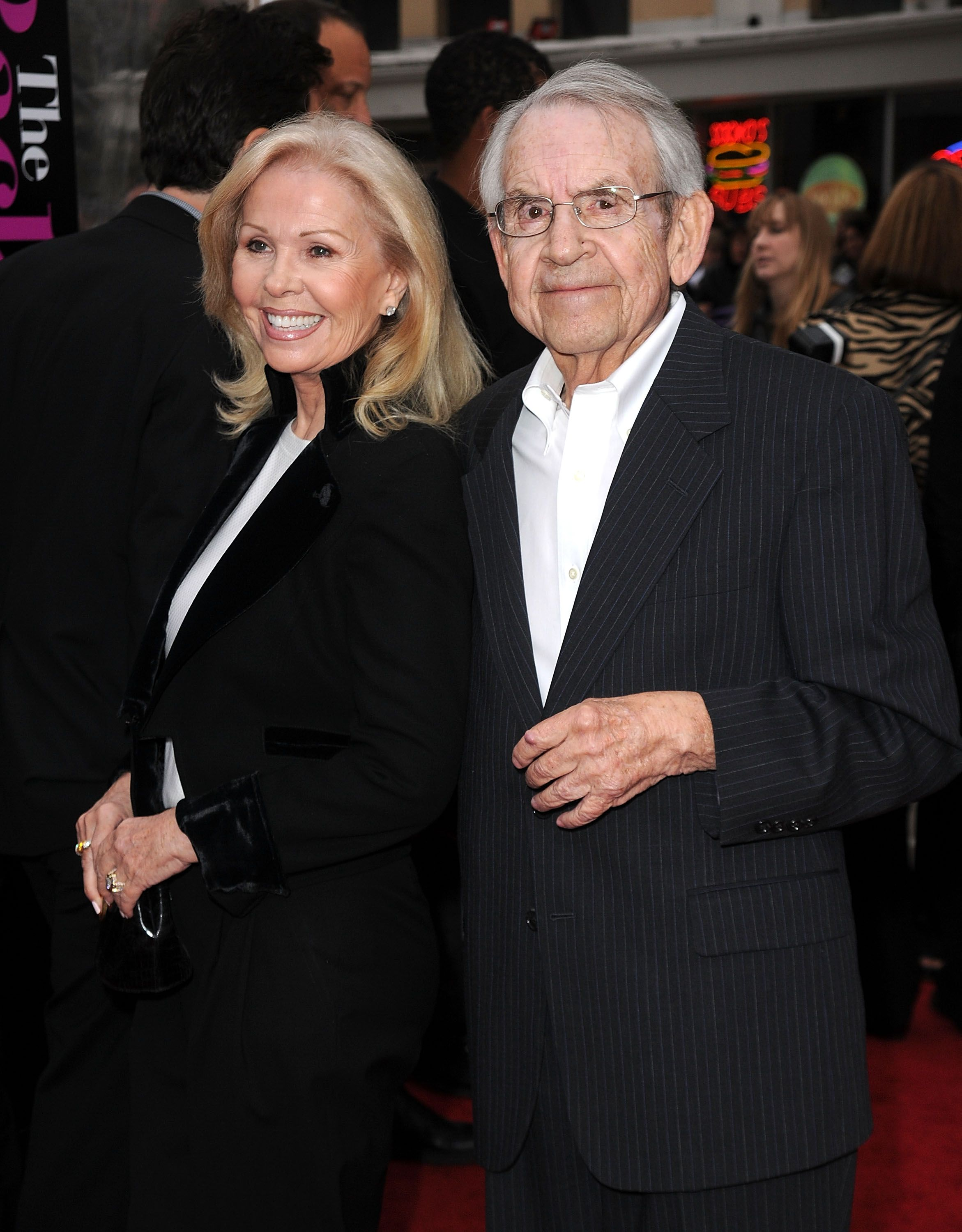 Tom Bosley and Patricia Carr arrive at the premiere of CBS Films' 'The Back-Up Plan' held at the Regency Village Theatre on April 21, 2010 in Westwood, California. | Source: Getty Images