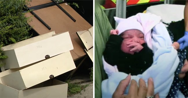 Woman Saves Newborn Placed inside Dresser in an Alley Right before Trash Pickup