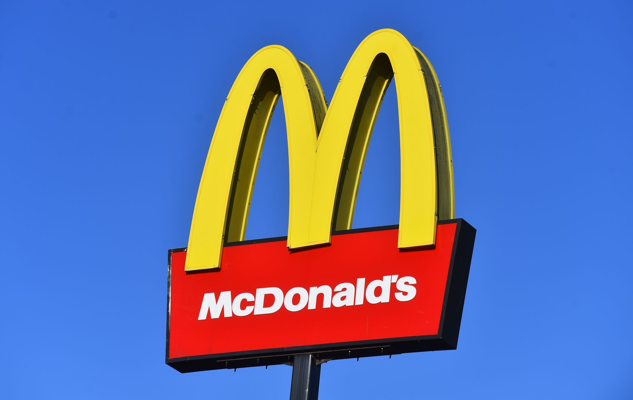 McDonald's trademark sign captured on November 13, 2020 in Staffordshire.   Source: Getty Images