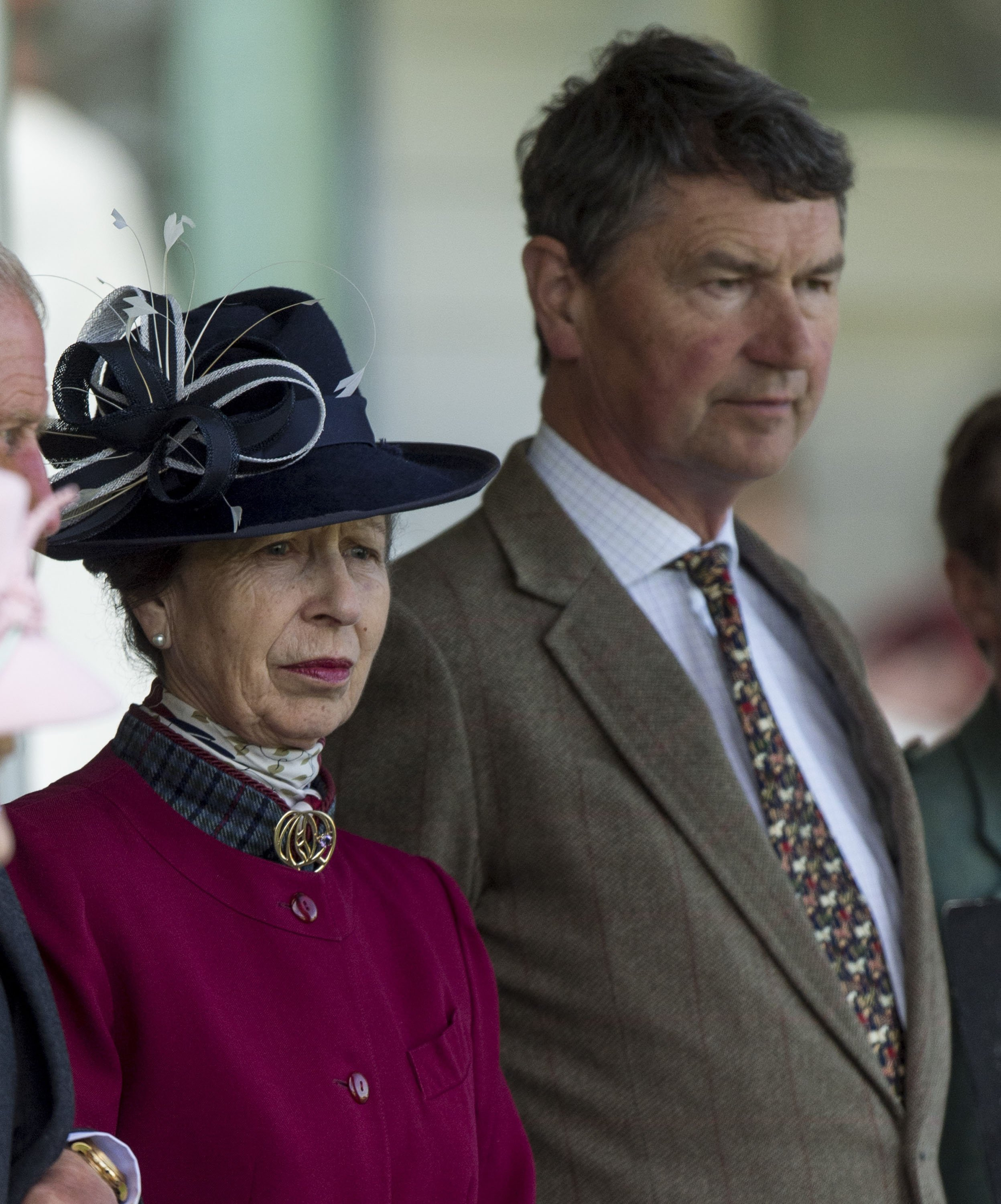 Princess Anne and Timothy Laurence attend the 2017 Braemar Highland Gathering on September 2, 2017, in Braemar, Scotland.   Source: Getty Images.