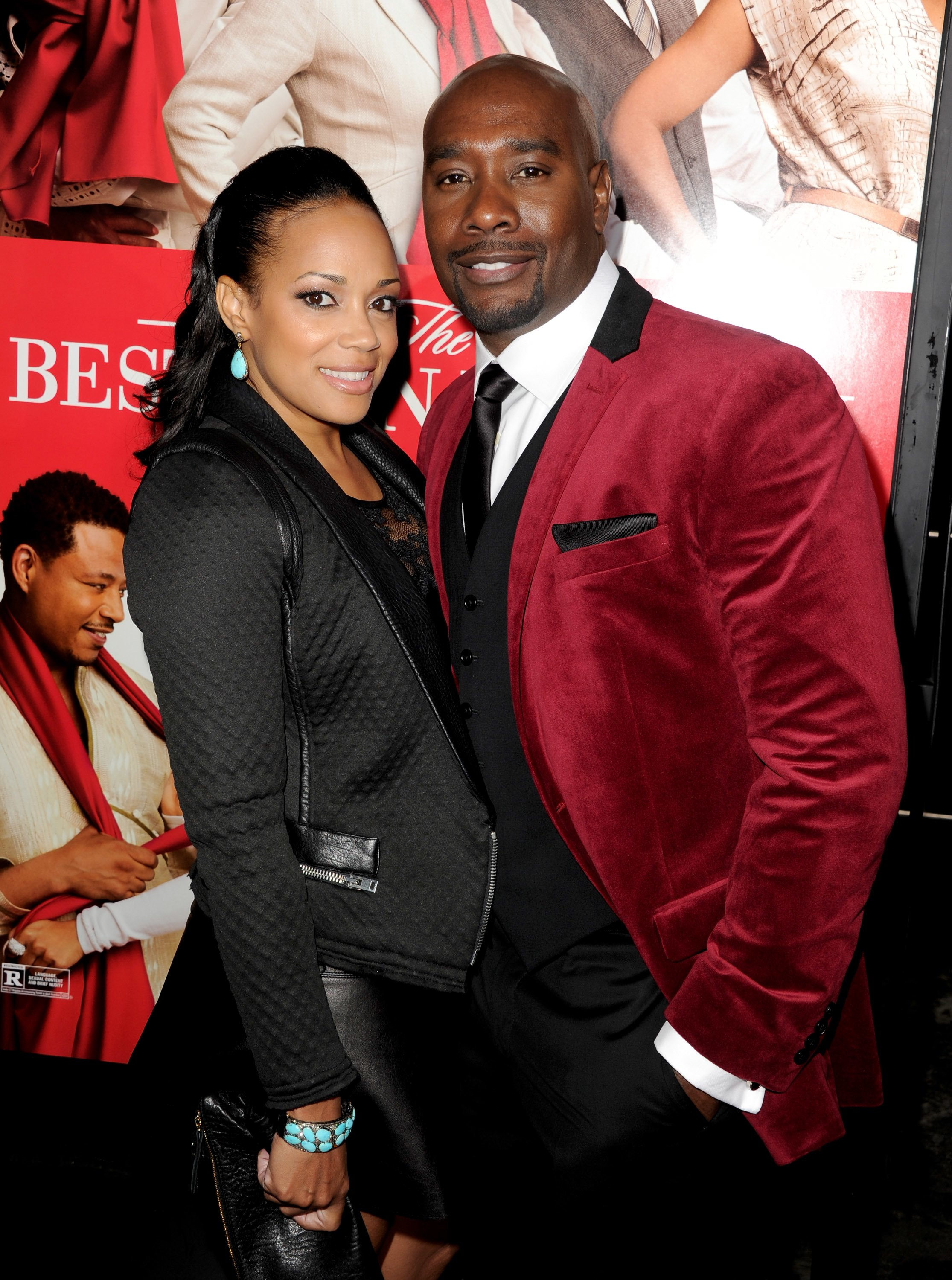 "Morris Chestnut and his wife Pam arrive at the premiere of Universal Pictures' ""The Best Man Holiday"" at the Chinese Theatre on November 5, 2013 