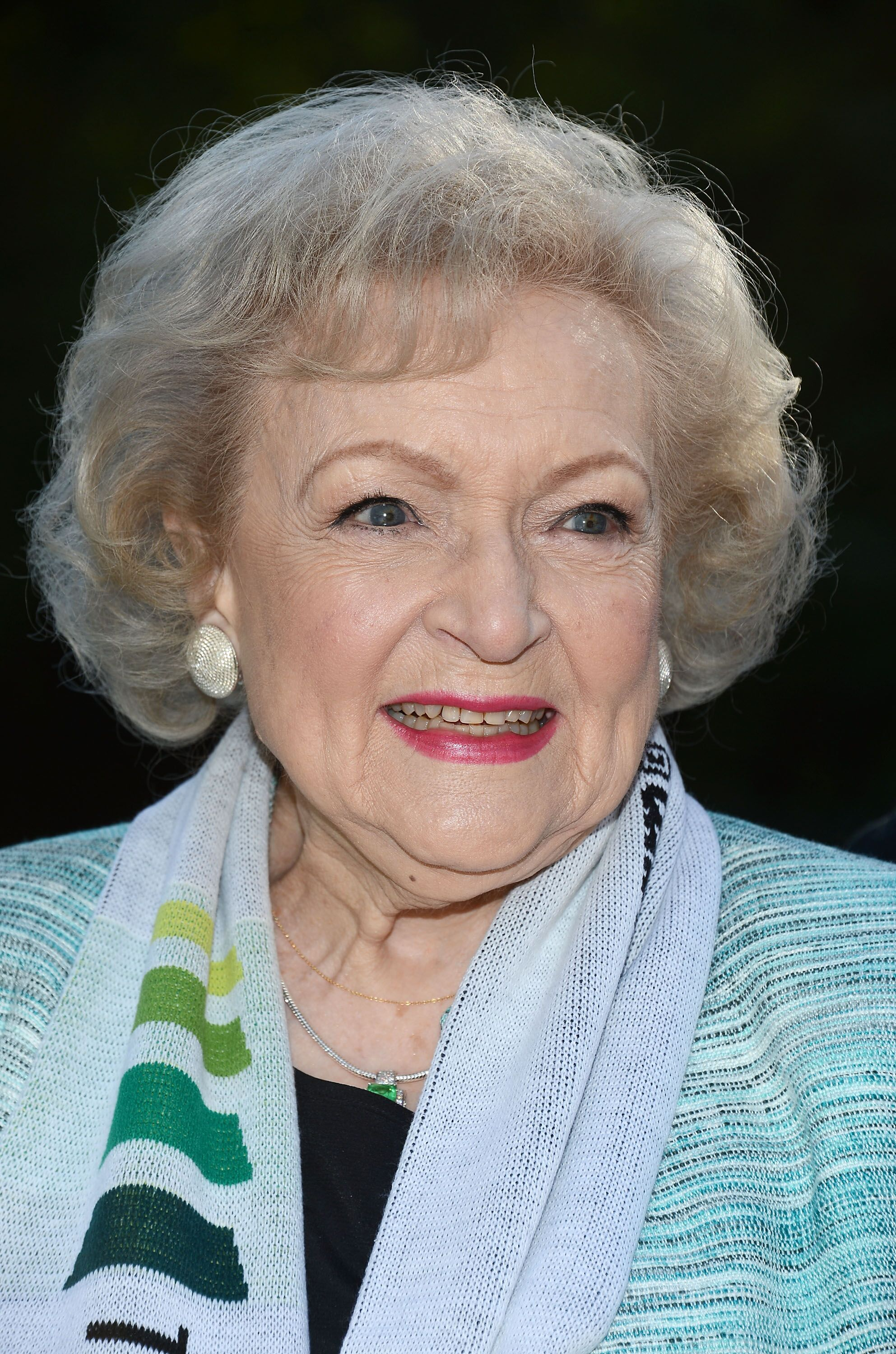 "The Lifeline Program spokesperson Betty White hosts the ""White Hot"" Holiday Event at The Los Angeles Zoo on December 11, 2012 in Los Angeles, California 