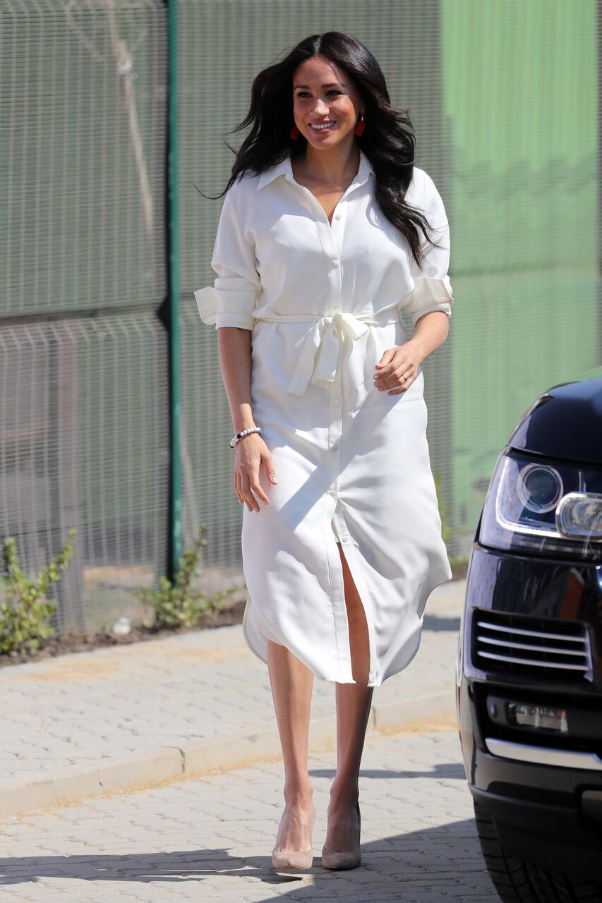 Meghan Markle visits a township with Prince Harry. | Source: Getty Images