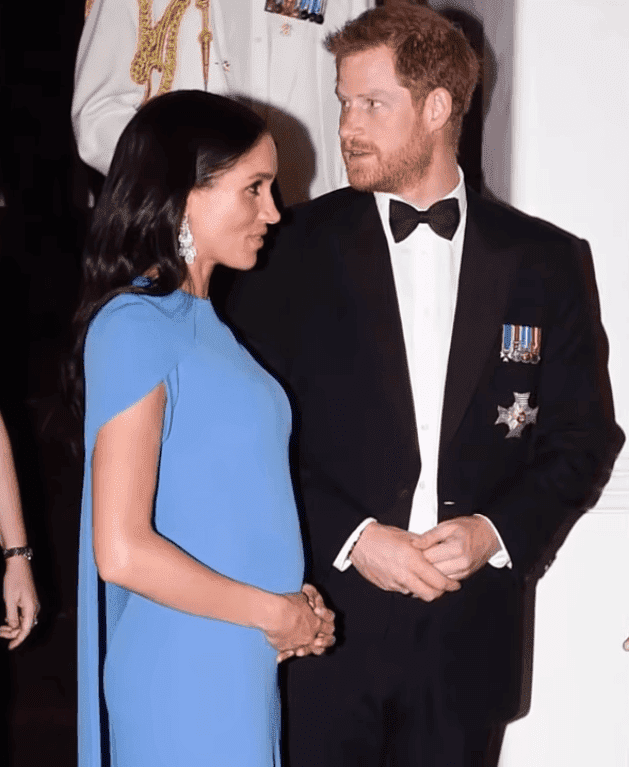 Duchess Meghan and Prince Harry at State dinner in Fiji in October 2018 | Source: YouTube/City Dreamer