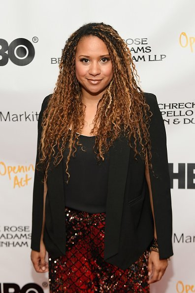 "Tracie Thoms attends ""In Their Own Words"" the 13th Annual Play Reading for Opening Act at New World Stages on April 02, 2019, in New York City. 
