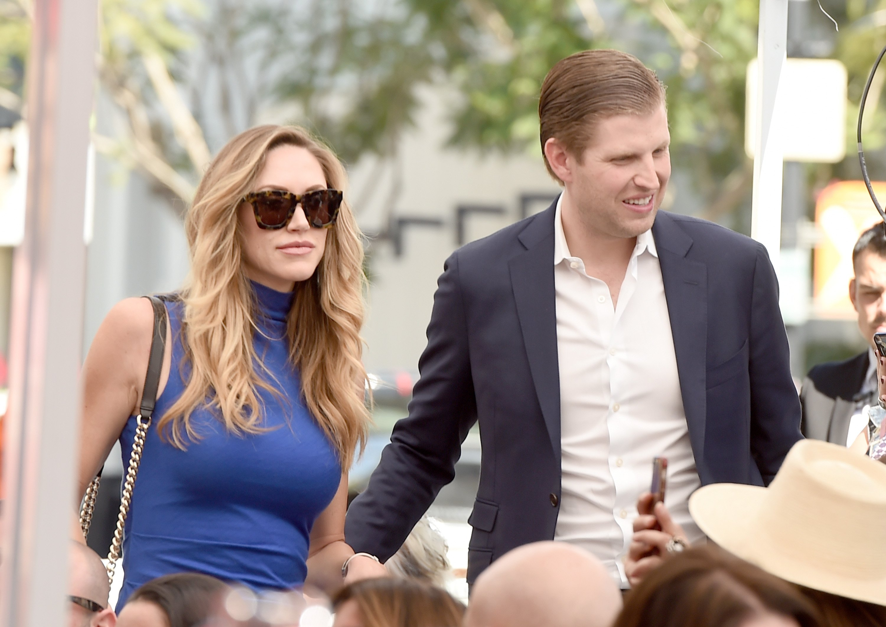 Eric and Lara Trump at Elvis Duran's Hollywood Walk of Fame Star ceremony in Los Angeles, California | Photo: Getty Images