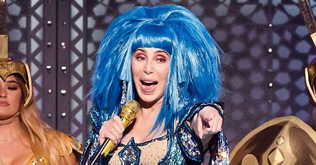 Cher Dazzles in Dramatic Blue Wig & a Sparkly Outfit on Stage during 'Here We Go Again' Farewell Tour