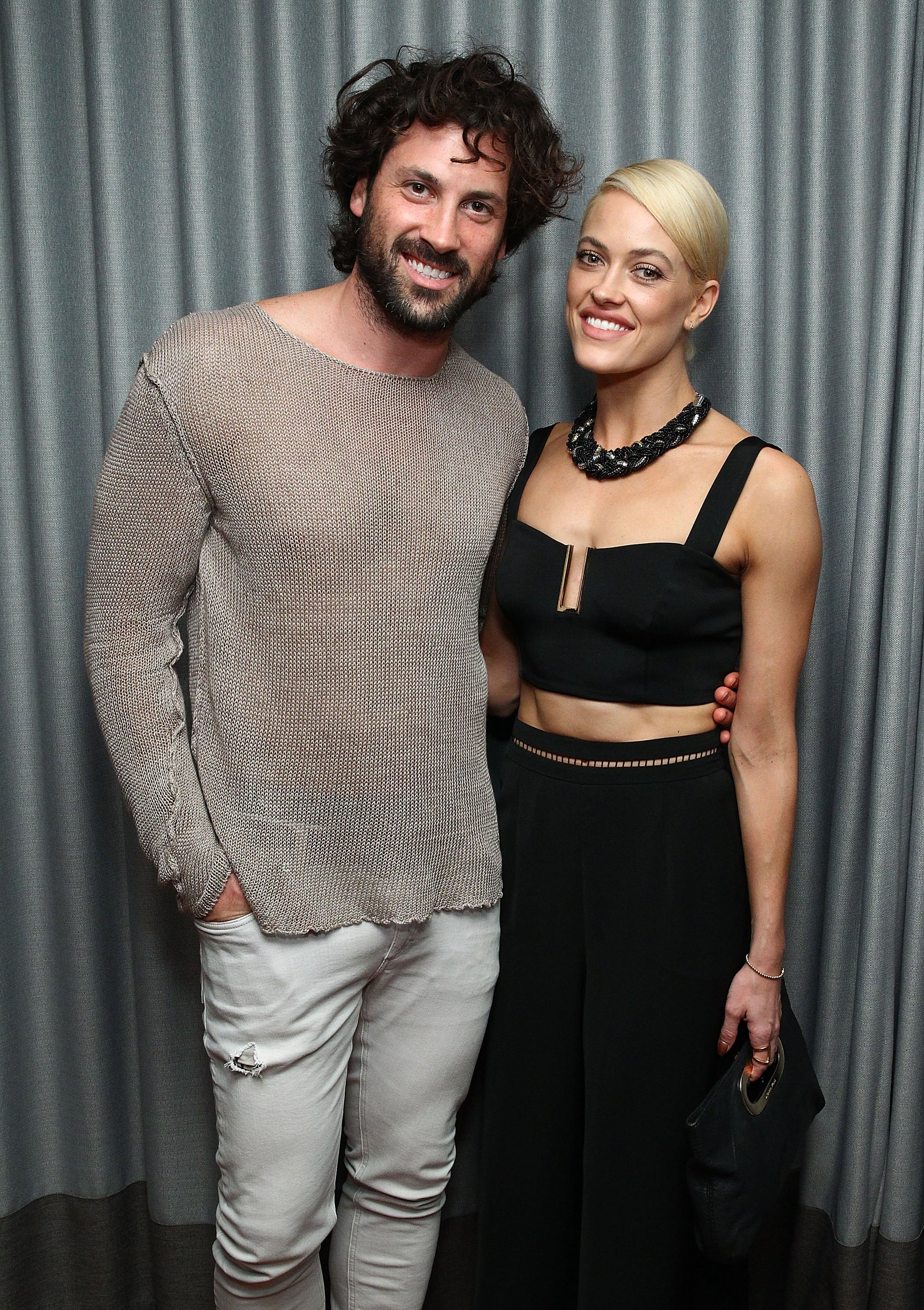 Maksim Chmerkovskiy and Peta Murgatroyd attend the Samsung celebration for Alec Monopoly's LEVEL Headphones Collaboration on December 2, 2015. | Source: Getty Images
