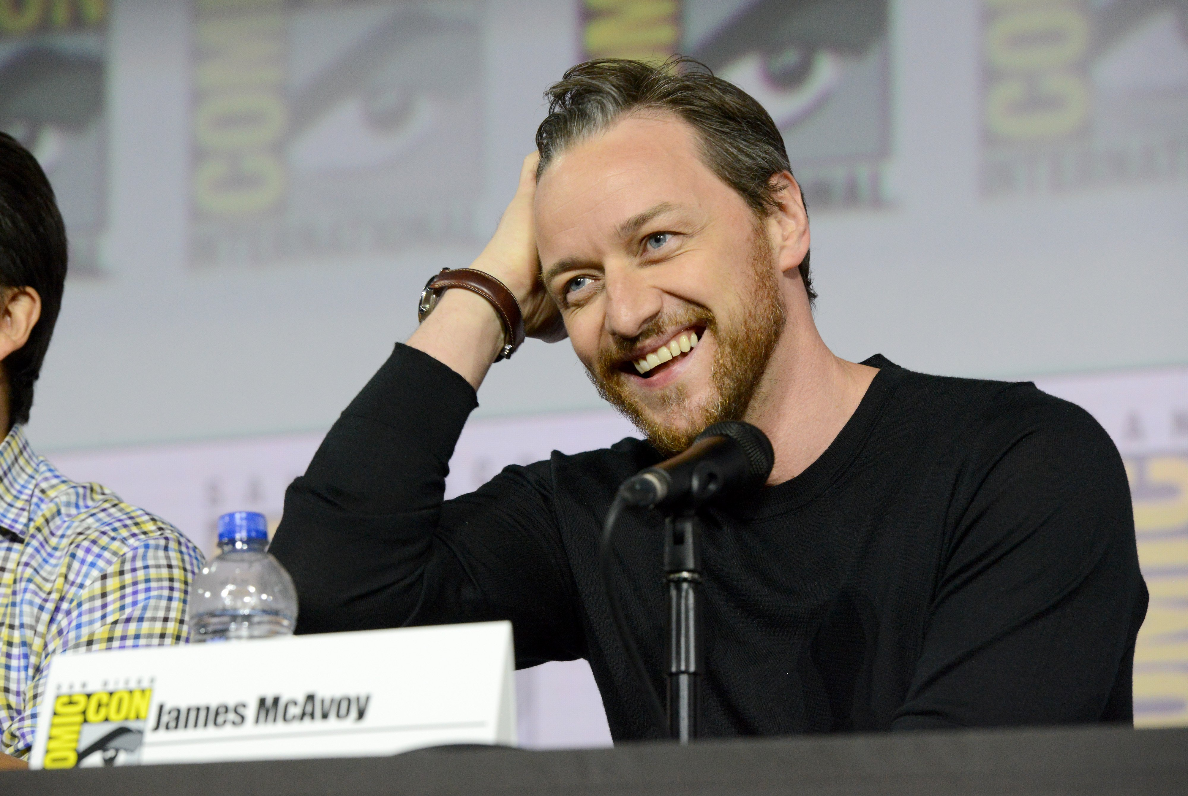 """James McAvoy at """"His Dark Materials"""" Comic Con autograph signing on July 18, 2019 in San Diego, California. 