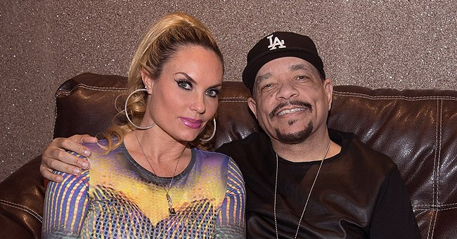 Ice-T Is Chic in a Black Suit Looking like a Power Couple with Wife Showing Her Legs in a Dress
