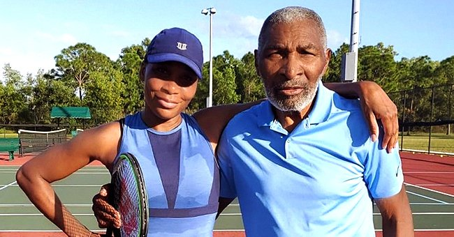 Venus Williams and Her Father Strike Poses in Matching Blue Outfits — See the Sweet Snap