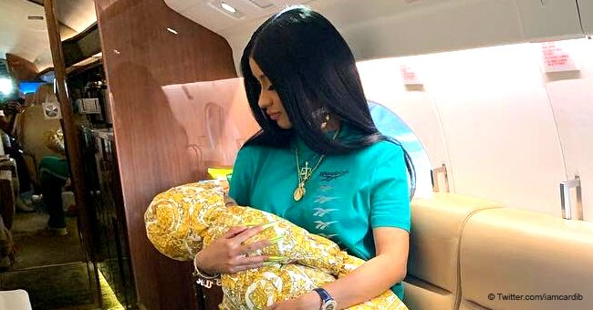 Cardi B cries with delight after seven-month-old daughter Kulture says 'mama' for the first time