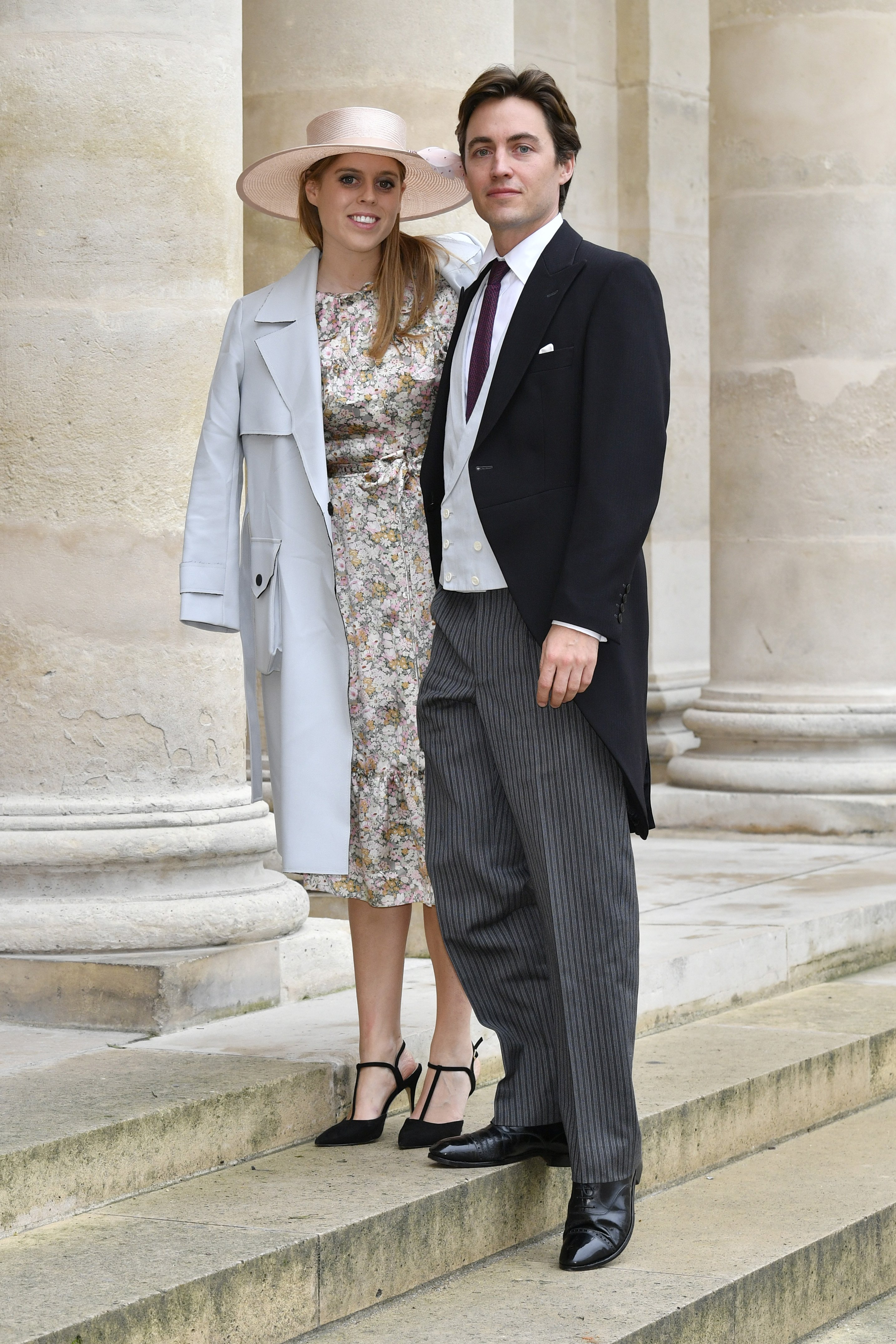 Princess Beatrice and Edoardo Mapelli Mozzi attend the Wedding of Prince Jean-Christophe Napoleon and Olympia Von Arco-Zinneberg at Les Invalides on October 19, 2019\   Photo: Getty Images