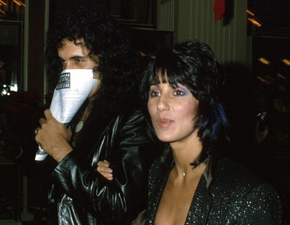 "Gene Simmons and Cher at the premiere of the movie ""Kramer vs. Kramer"" in December 1979. 