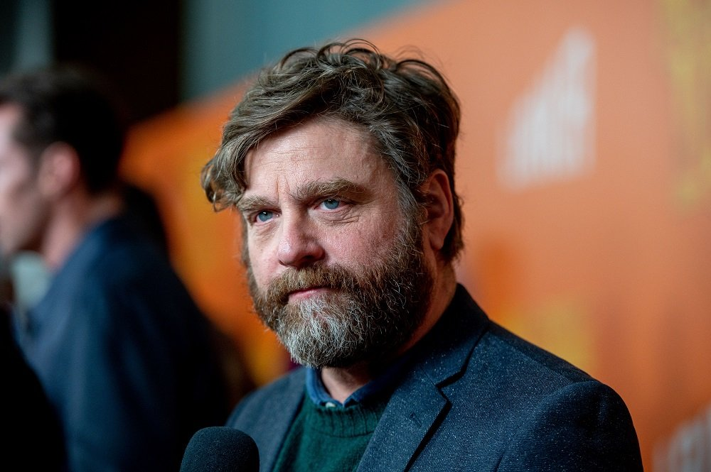 "Zach Galifianakis attending the ""Missing Link"" New York Premiere at Regal Cinema Battery Park in New York City in April 2019. 