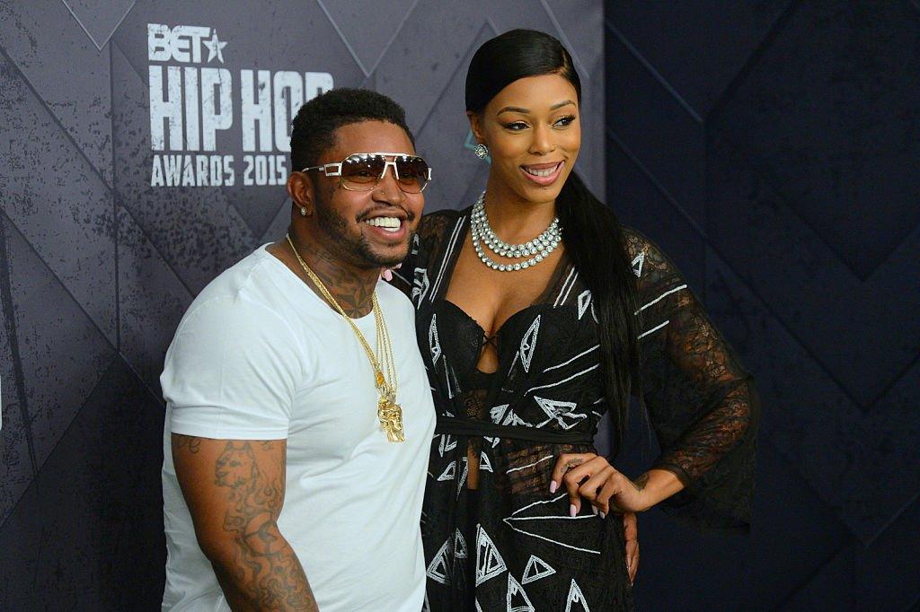 "Lil Scrappy and Adiz ""Bambi"" Benson at the 2015 BET Hip Hop Awards on October 9, 2015 in Atlanta, Georgia. 
