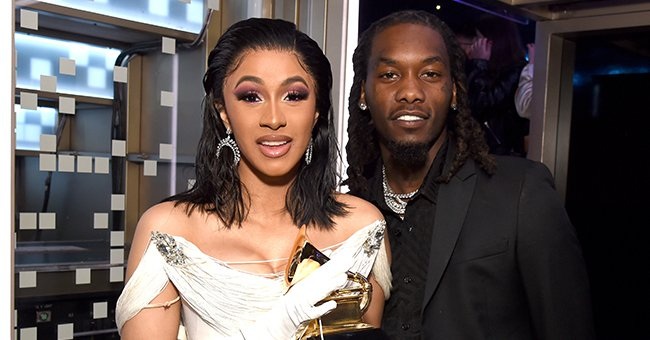 Offset Wears a Pendant Displaying His Baby's Photo as He Shows off Cool Chains around His Neck