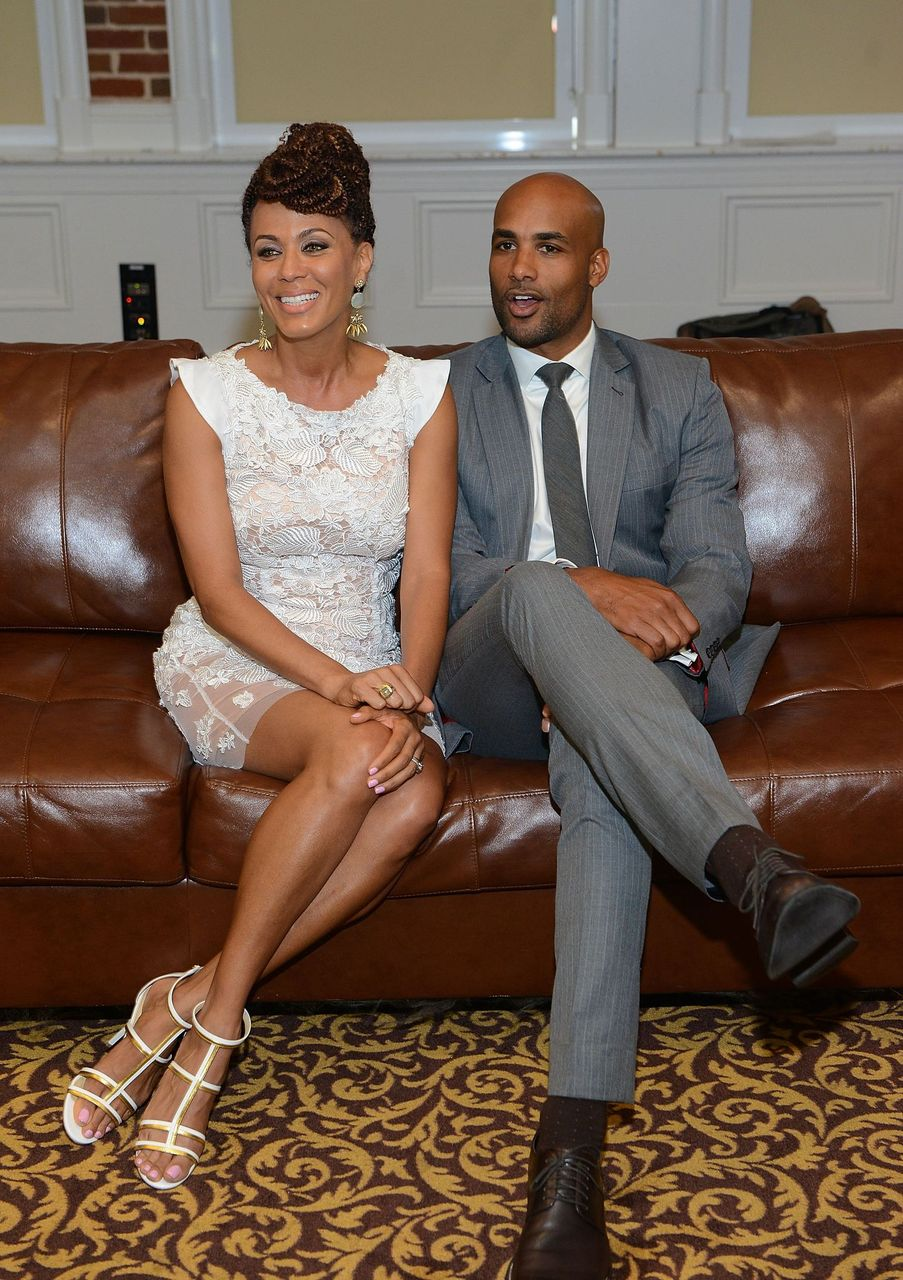 Nicole Ari Parker and Boris Kodjoe attends Pass On The Blessings Awards at Buckhead Theatre on May 18, 2014 in Atlanta, Georgia. | Source: Getty Images