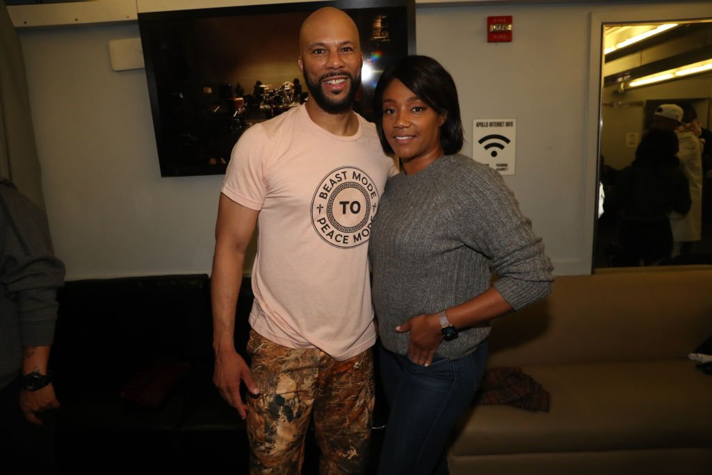 Rapper Common and comedian Tiffany Haddish at the Apollo Theatre in October 2019. | Photo: Getty Images