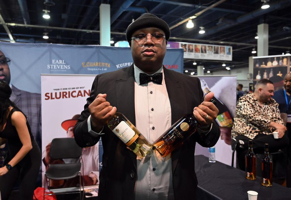 E-40 is seen at his booth during Day 2 of the 35th Annual Nightclub & Bar Show and World Tea Expo at the Las Vegas Convention Center on June 29, 2021 Photo: Getty Images