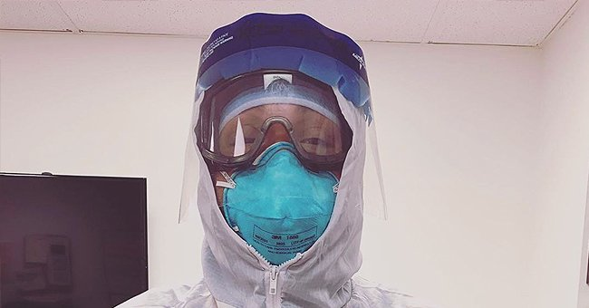 Medical Worker Badged PPE with Smiling Photo of Himself to Cheer up Scared Coronavirus Patient